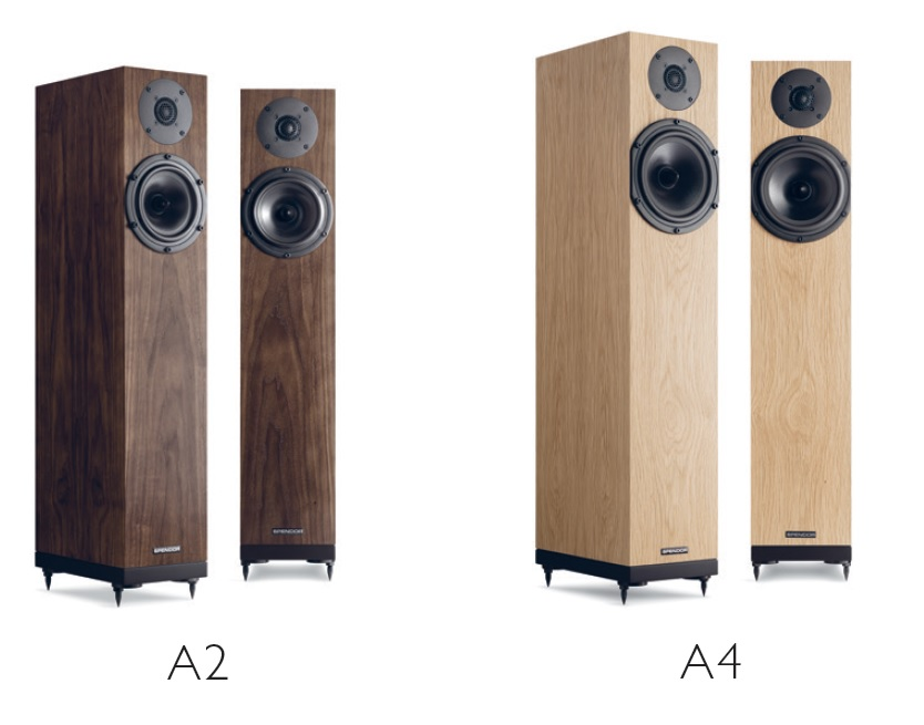 Spendor A2 and A4 loudspeakers