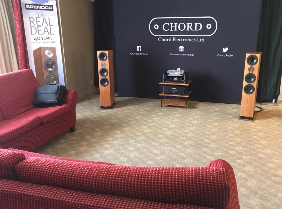 Spendor D9 and Chord Blu and DAVE at Montreal Audio Fest Show
