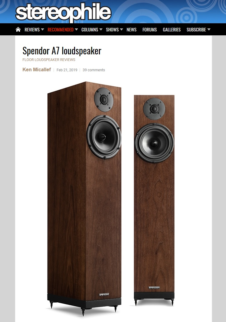 Stereophile A7 review image