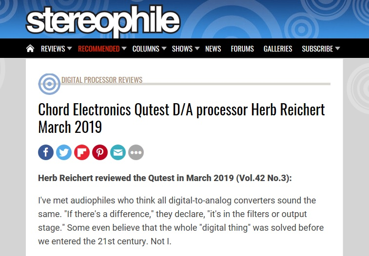 Chord Electronics Qutest Reviewed by Stereophile